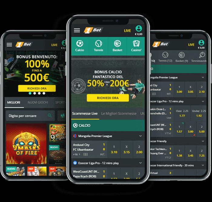1bet app scommesse mobile