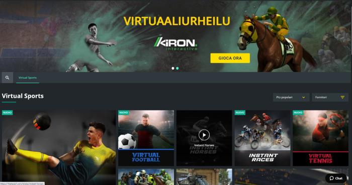1bet scommesse sportive virtuali calcio
